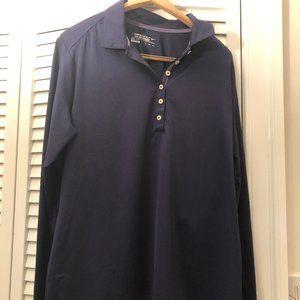 Nike Golf Men long sleeve polo shirt navy blue 2XL
